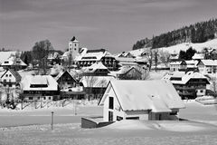 Winter in Breitnau in the Black Forest, Germany Royalty Free Stock Photos