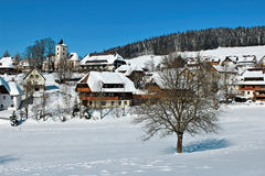 Winter in Breitnau in the Black Forest, Germany Stock Photos