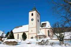 Winter in Breitnau im Schwarzwald, Deutschland stockfoto