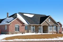 Winter Brick House royalty free stock image