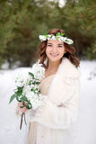 Winter bride Stock Photography