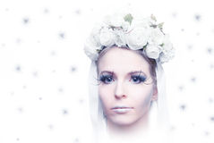 Winter bride royalty free stock photography