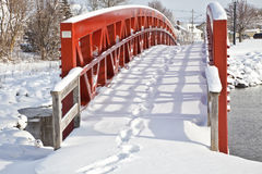 Winter Bridge Stock Image