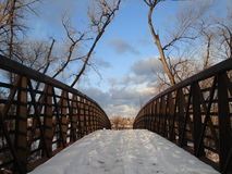 Winter Bridge Royalty Free Stock Photography
