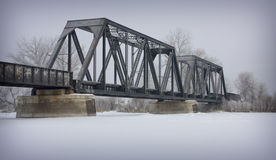 Winter Bridge Royalty Free Stock Image