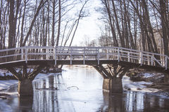 Winter bridge Stock Photos