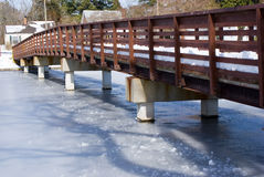Winter Bridge Royalty Free Stock Image