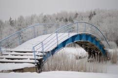 Winter bridge Royalty Free Stock Photo