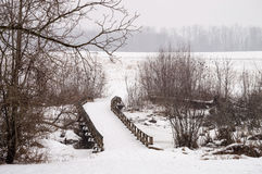 Winter Bridge Stock Images
