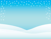 Winter Brochure Background Horizontal Stock Image