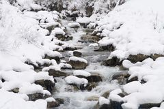 Winter brook Royalty Free Stock Photo