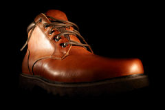 Winter brown shoes. Stock Photography