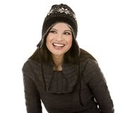 Winter brunette Royalty Free Stock Image
