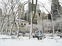 Winter Bryant Park Stock Photo