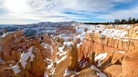 Winter Bryce Canyon stockfoto