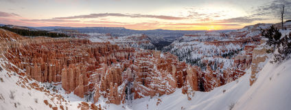Winter Bryce Canyon Royalty Free Stock Photography