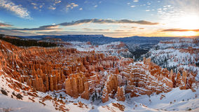 Winter Bryce Canyon Sunrise Royalty Free Stock Photos