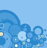Winter bubble. A hazzy winter background with the use of circles vector illustration