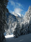Winter in bucegi mountains. With a lot of snow Royalty Free Stock Images