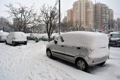 Winter in Bucharest stockbild