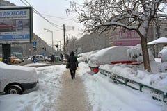 Winter in Bucharest lizenzfreie stockbilder