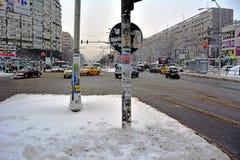 Winter in Bucharest lizenzfreie stockfotos