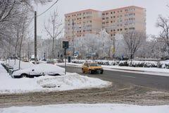 Winter in Bucharest Stock Photos