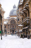 Winter in Bucharest - Historic center Stock Photography