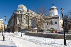 Winter in Bucharest - Historic Old Center Stock Images