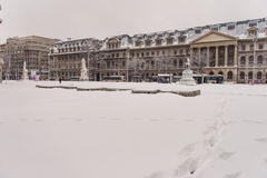 Winter in Bucharest royalty free stock image