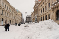 Winter in Bucharest royalty free stock photography