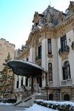 Winter, Bucharest, Romania - Cantacuzino Palace Royalty Free Stock Photo