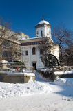 Winter in Bucharest - Saint Dumitru Church Royalty Free Stock Photo