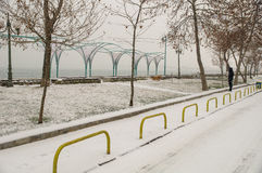 Winter in Bulgarian Pomorie stock photos