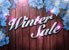 Winter business or invitation background Royalty Free Stock Photography
