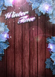 Winter business or invitation background Stock Images