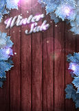 Winter business or invitation background Stock Image
