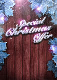 Winter business or invitation background Royalty Free Stock Photos
