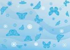 Winter Butterflies Royalty Free Stock Photo