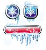 Winter buttons Royalty Free Stock Photo