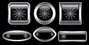 Winter buttons stock illustration