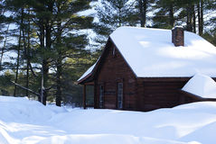 Winter Cabin Stock Image