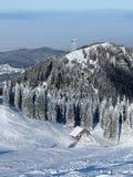 Winter cabin stock photos
