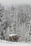 Winter Cabin Stock Photography