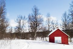 Winter Cabin Stock Photos