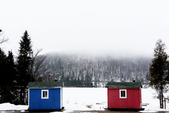 Winter Cabins Stock Images