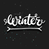 Winter calligraphy word Royalty Free Stock Images