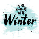 Winter calligraphy word Stock Images