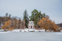 Winter calm. Early winter in Sofievka (Uman), Ukraine Royalty Free Stock Photography
