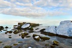 Winter calm sea Stock Photo